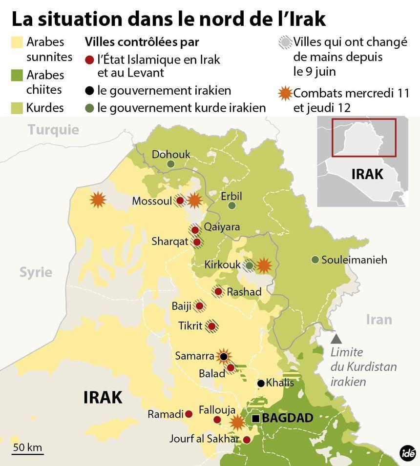 Irak : les djihadistes et les Kurdes se partagent le Nord - IDÉ