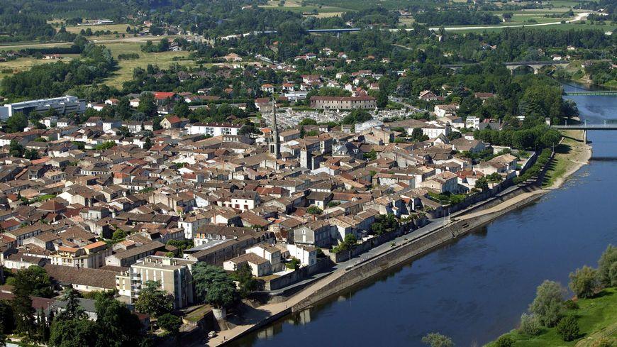 Vue aérienne de Sainte-Foy-la-Grande
