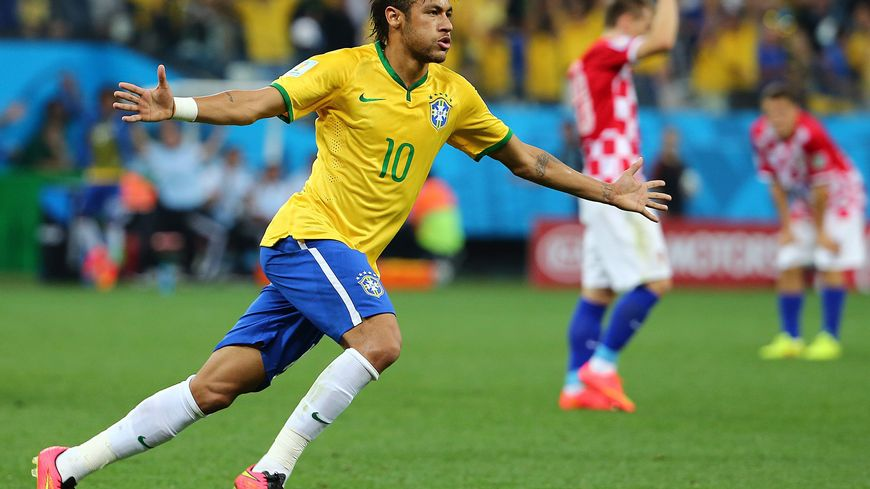 Neymar, auteur d'un doublé face à la Croatie