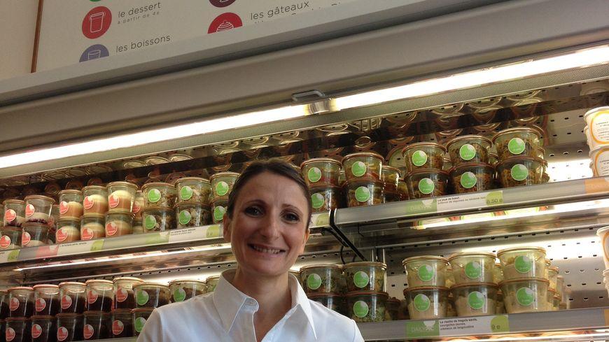 "Avec Daily Pic, Anne-Sophie Pic ouvre sa ""cantine gourmande"" à Valence, le 10 juin 2014."