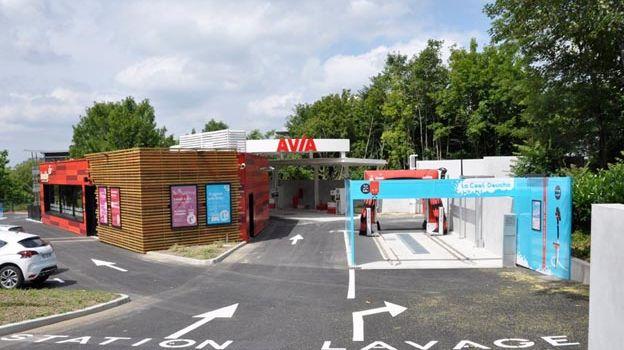 La station-service Honiby de Limoges.