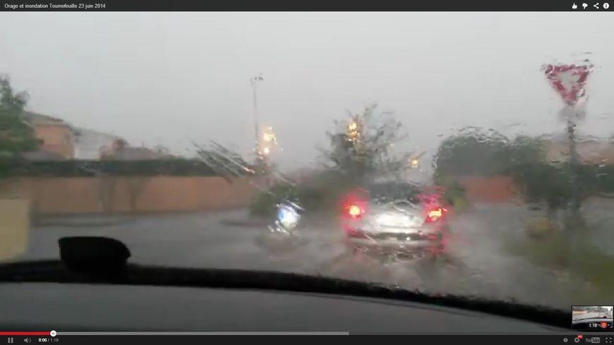 Image extraite d'une vidéo amateur à Tournefeuille