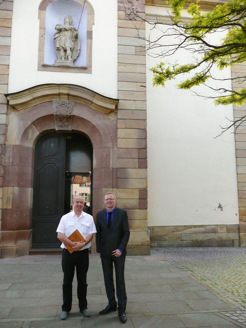 Bertrand Rietch et Thierry Schaal, mr le maire de Fegersheim - Radio France