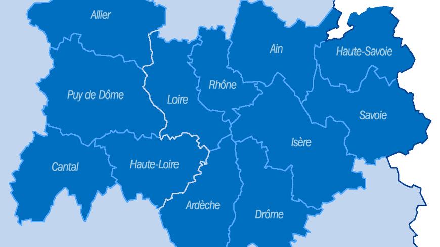 """La """"super région"""" Rhône-Alpes Auvergne."""