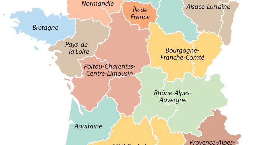 Le projet de redécoupage des régions de François Hollande