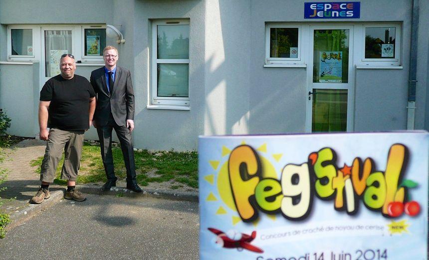 Hervé Caspar et mr le maire de Fegersheim - Radio France