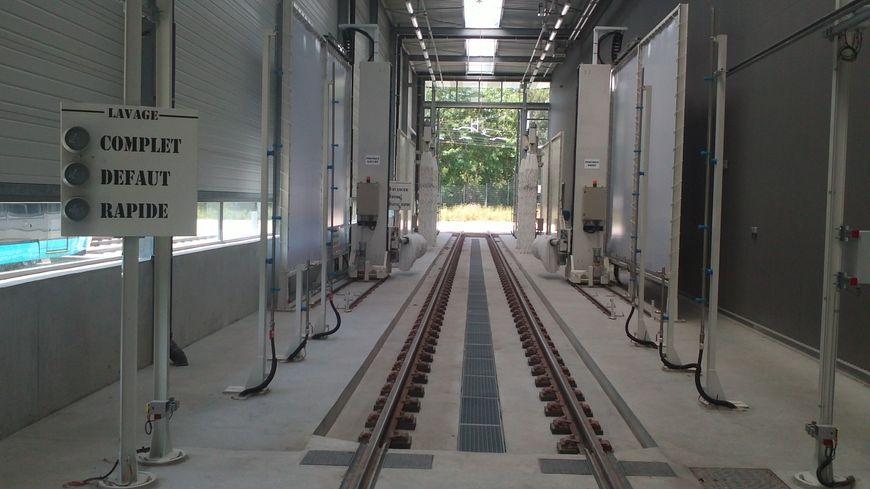 Le centre de maintenance du tramway de Besançon
