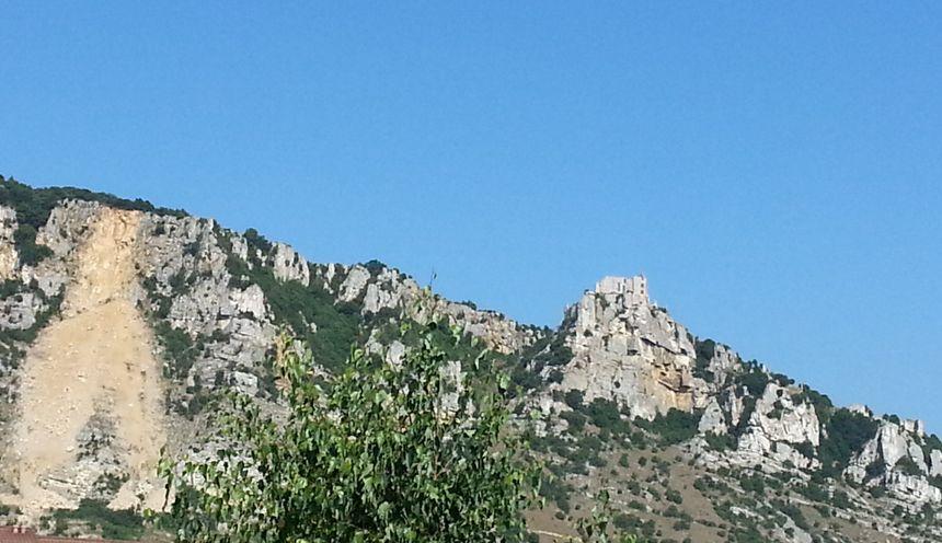 La falaise de Crussol depuis l'éboulement - Radio France