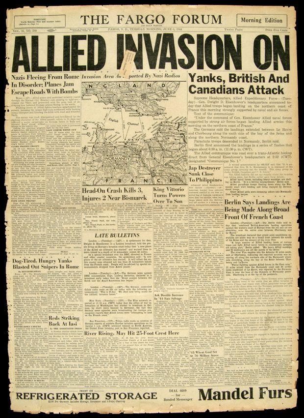 Revue de presse du 6 juin 1944 du 06 juin 2014 france inter - Journal de normandie ...