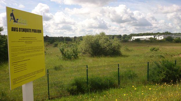 Le site du futur magasin Ikea à Ardon près d'Orléans.