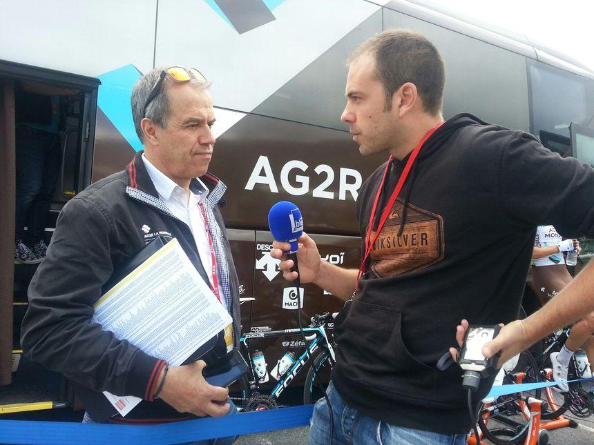 Vincent Lavenu, le directeur sportif de Romain Bardet est très fier de lui et il revient sur ce Critérium complètement fou. - Radio France