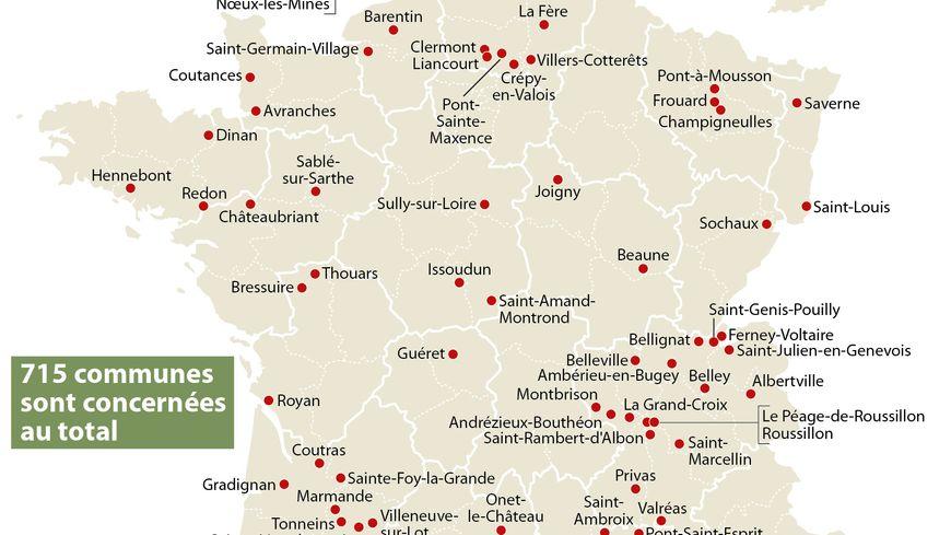 Les 108 nouvelles communes dont les quartiers vont bénéficier d'aides