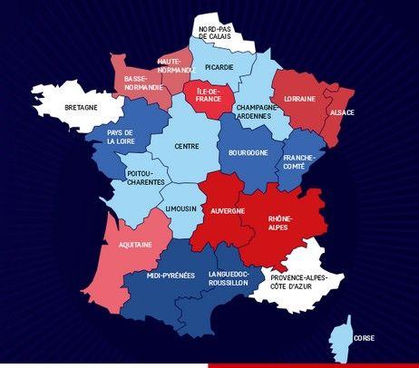 La carte des 14 régions proposée par François Hollande - www.elysee.fr
