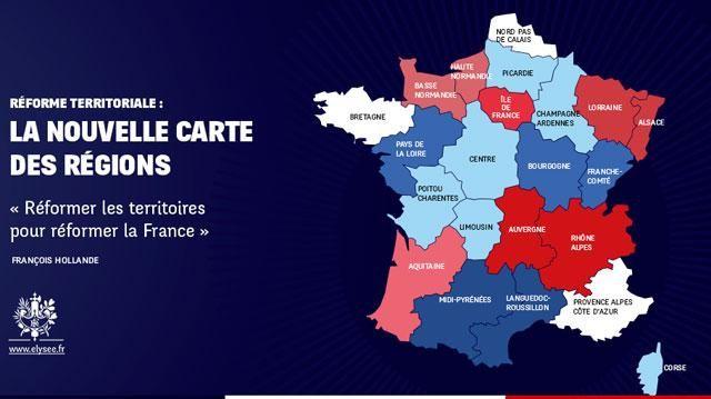 La réforme territoriale de François Hollande