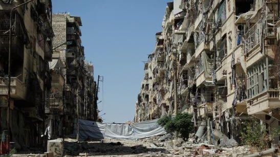 Une ville ravagée en Syrie
