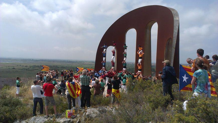 """Les quatre """"colles de castelleres"""" du département ont participé à la manifestation"""