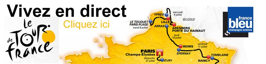 Infographie Tour de France - événement France Bleu Champagne-Ardenne - Eric Turpin - Radio France