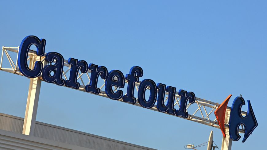 Une enseigne de supermarché Carrefour (illustration).