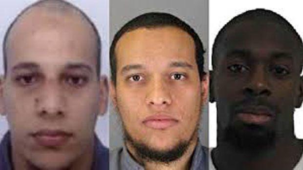 Saïd Kouachi, Chérif Kouachi et Amedy Coulibaly