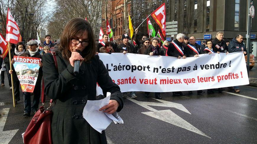 Manifestation contre privatisation aéroport Toulouse
