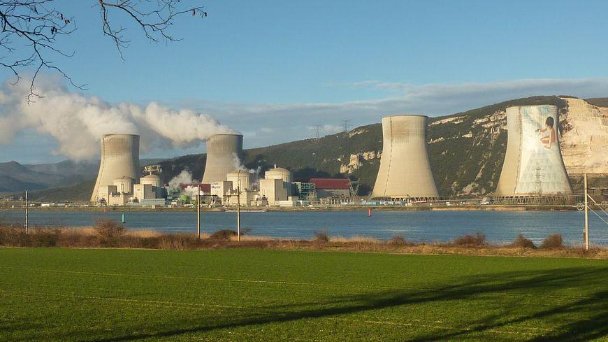 La centrale nucléaire de Cruas Meysse en Ardèche, février 2015