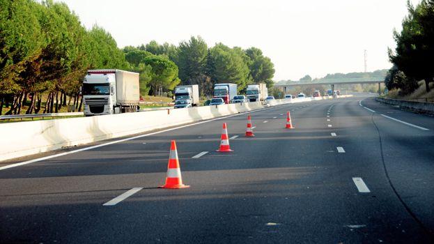 Voie fermée sur l'autoroute A9 (illustration)