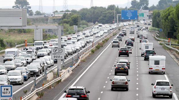 Circulation difficile sur l'autoroute A9