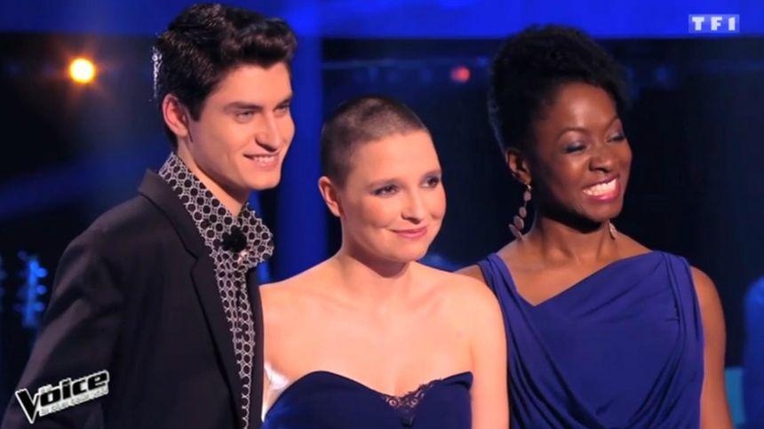 David Thibaut, Anne Sila et Azania Noah, tous membres de l'équipe de Florent Pagny - Capture d'écran TF1