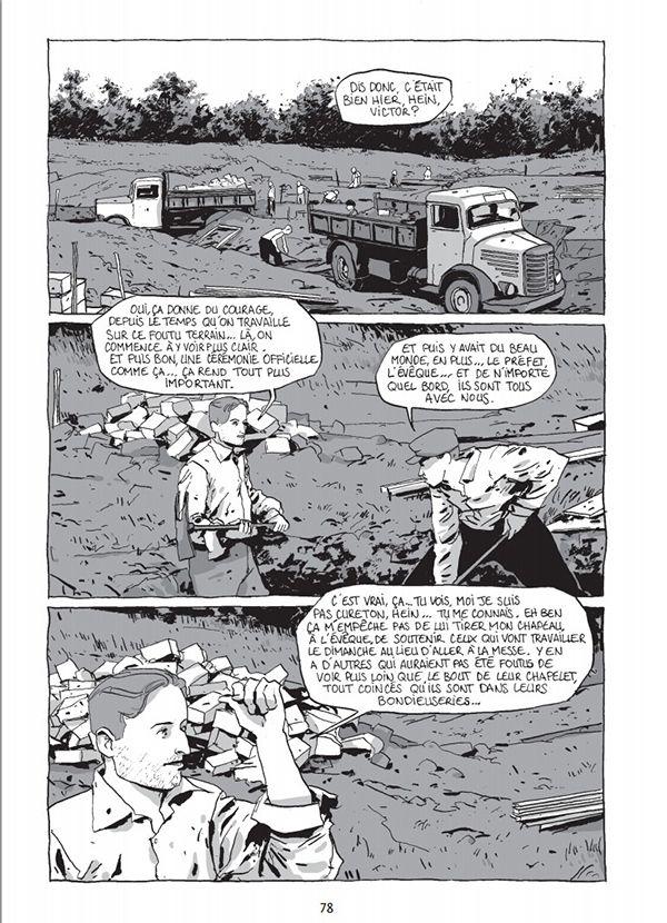 """extrait de la bande-dessinée """"Sans maison, la cité des abeilles"""" (éditions Delcourt)"""