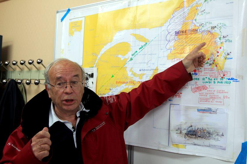 Bernard Decré, le président de l'association « La recherche de l'Oiseau blanc »