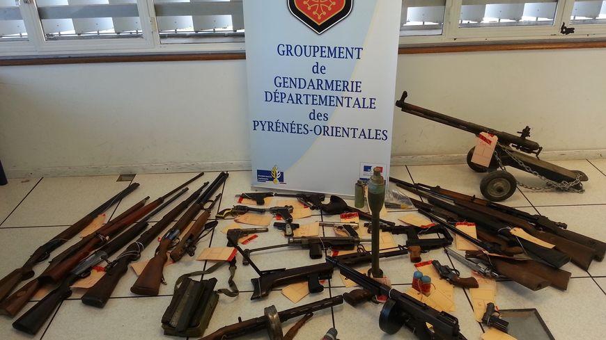 Les armes saisies à Thuir