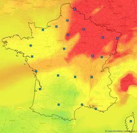 Les prévisions de pollution de l'air pour jeudi - prevair.org