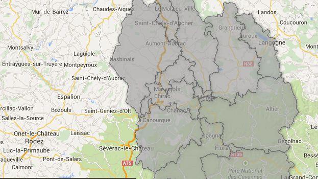 Cantons de Lozère