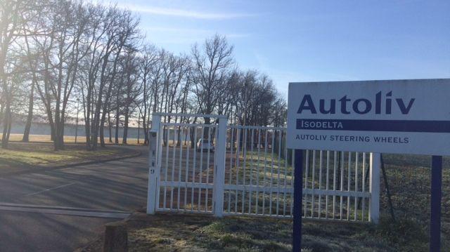 Le site d'Autoliv Isodelta à Chiré en Montreuil dans la Vienne