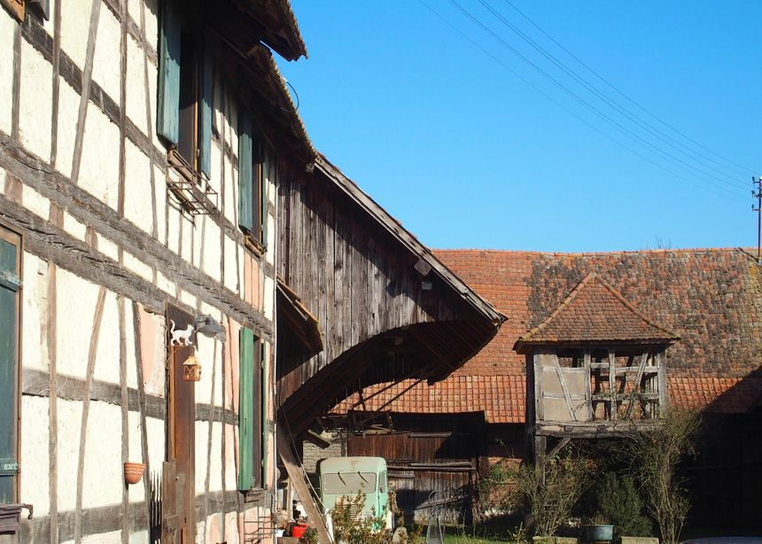 Ohnenheim, cour de ferme