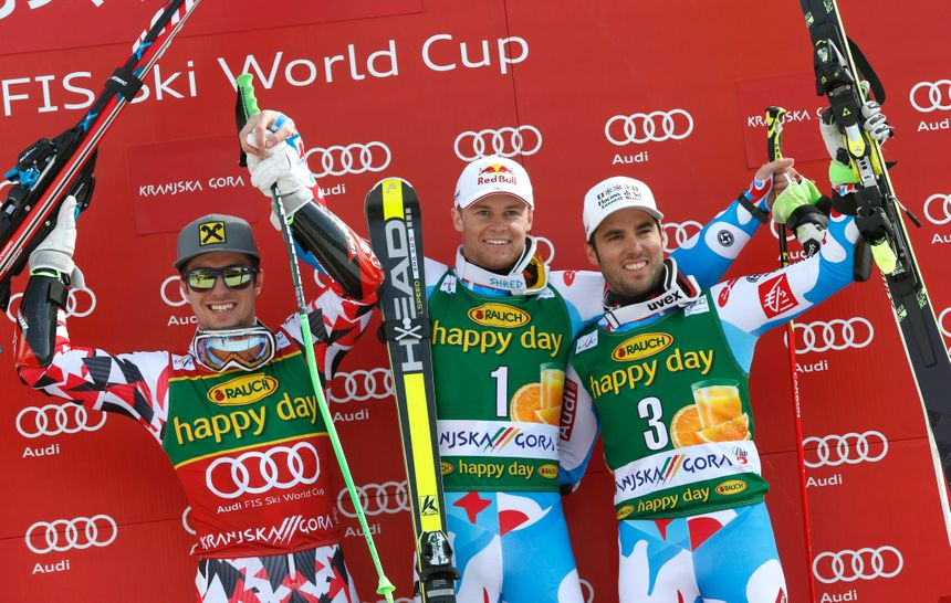 ski podium géant kranjska gora victoire pinturault  - Maxppp