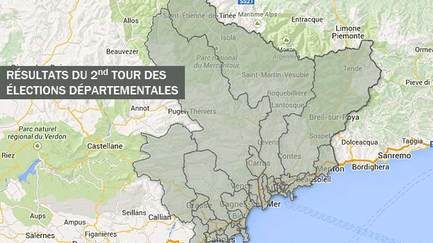 Les nouveaux cantons du département des Alpes-Maritimes