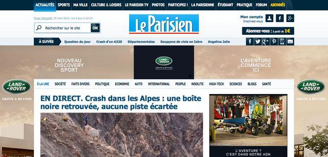 Le Parisien n'est pas qu'un journal, c'est aussi un site. Avec de la pub. Beaucoup de pub. Et des contenus payants.