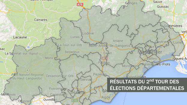 Les nouveaux cantons du département de l'Hérault