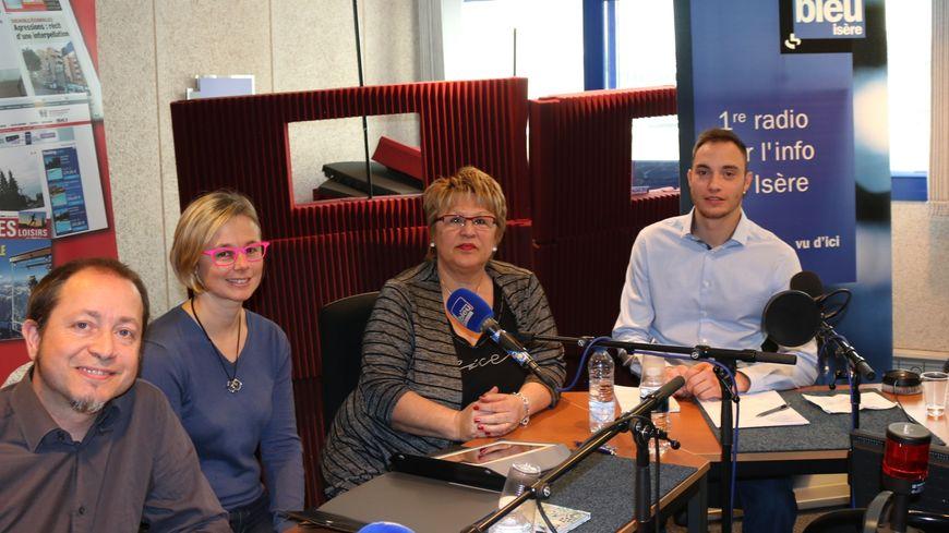 De gauche à droite sur la photo : Alexis Jolly, Sylvette Rochas, Magalie Vincente, Olivier Royer.