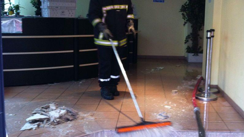 FBToulouse  les pompiers évacuent l'eau du Tribunal Administratif