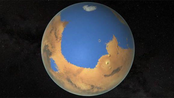 Quand elle était encore une planète humide, Mars avait suffisamment d'eau pour la recouvrir entièrement