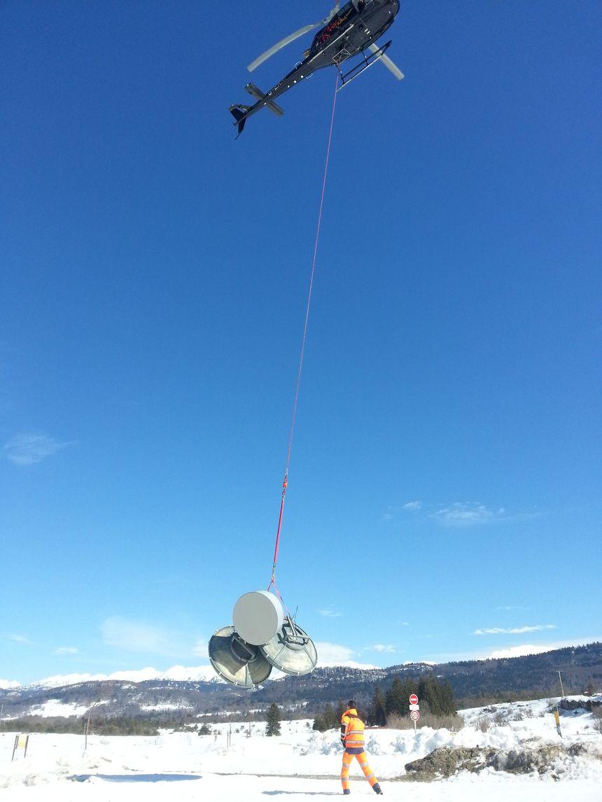 Les techniciens d'Orange interviennent en hélicoptère dans le Vercors - 3 - Radio France