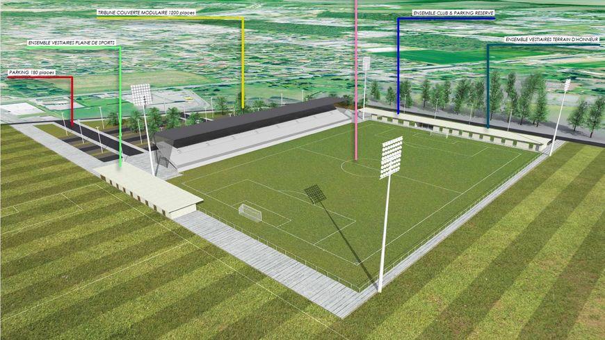 Le futur stade du Pau FC