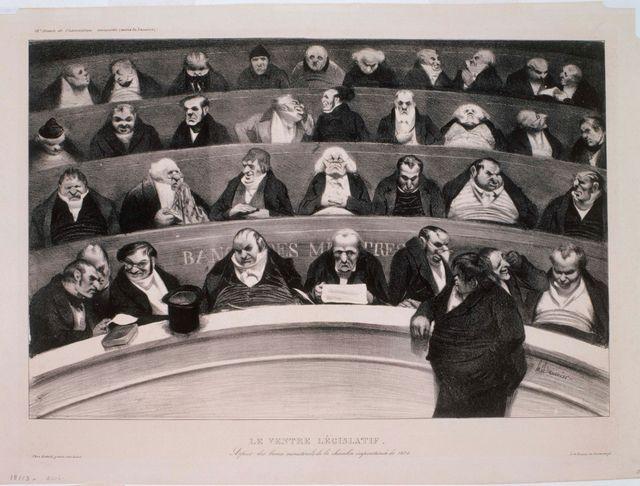 Le Ventre Legislatif par Honoré Daumier - 1834