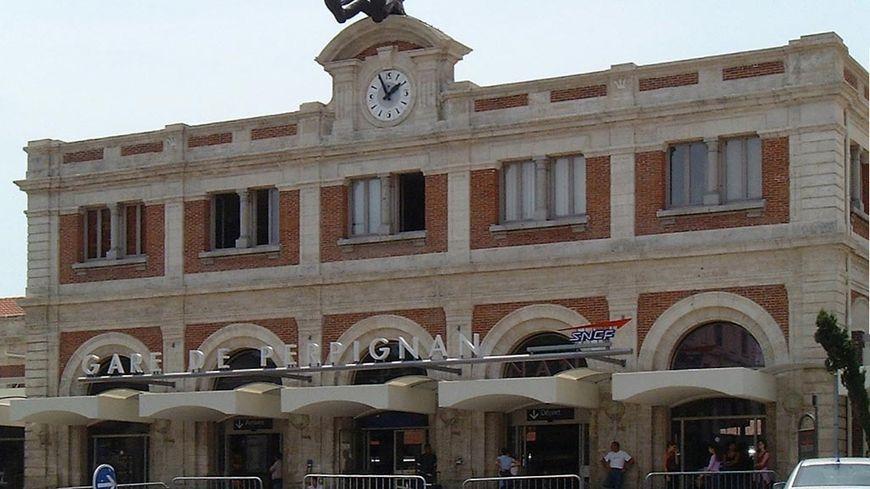 La gare de Perpignan (illustration)