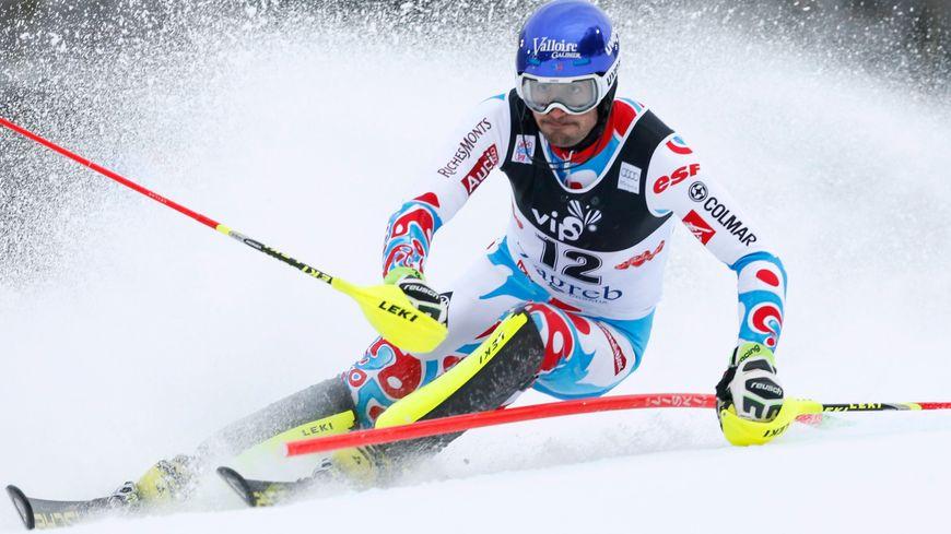 Jean-Baptiste Grange, lors du slalom 2015 des Championnats du monde de ski, qu'il remportera!