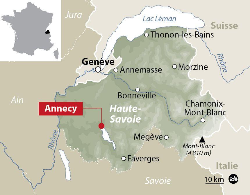 Annecy, en Haute-Savoie. - IDÉ