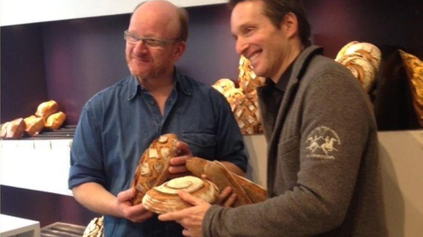Alex Croquet, le boulanger lillois, et Stéphane Rottenberg, présentateur de Top Chef sur M6