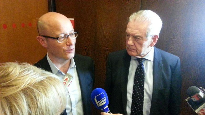 Philipe Madrelle accueille son successeur Jean-Luc Gleyze qui sera le nouveau président du Département - Radio France